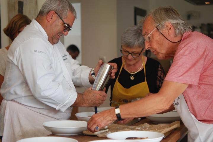 La villa des chefs cours de cuisine avec des chefs toil s for Donner des cours de cuisine